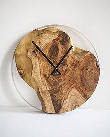 Hodiny - Živicové hodiny z teakového dreva Grand Canyon - 11342121_