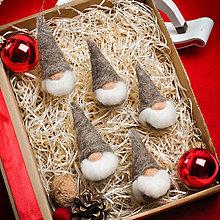 Dekorácie - Vianočný škriatkovia - sada 6ks - 11342307_