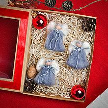 Dekorácie - Plstený vianočný anjel Gabriel - 11342382_