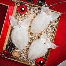 Dekorácie - Plstený vianočný anjel Daniel - 11342420_