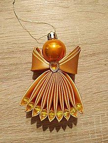 Dekorácie - Saténový anjel III. - 11338869_