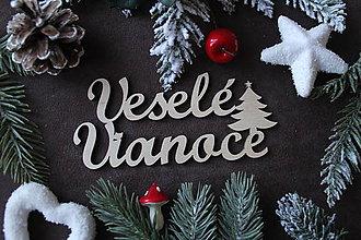 Dekorácie - Výrez veselé vianoce (10 cm) - 11341992_