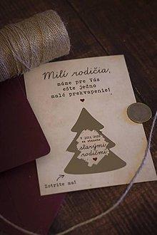 Papiernictvo - Vianočný žreb o bábätku - starý rodičia ❤ - 11342330_