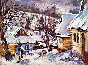 Obrazy - Zimný Vlkolínec - 11339527_