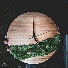 Hodiny - Mach - Topoľové drevené hodiny - 11342207_