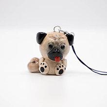 Kľúčenky - Pes Mops (Pug) - kľúčenka / talizman - 11341861_