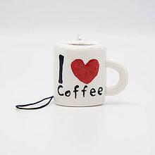 Kľúčenky - Šálka kávy - kľúčenka / talizman - 11341901_