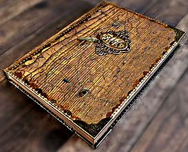 Papiernictvo - Staré drevo,vintage luxusný manager diár 2020 pánsky,pre muža i ženu - 11342843_