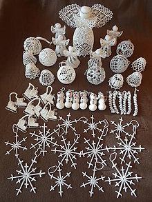 Dekorácie - Vianočné ozdoby na stromček - sada - 11340323_