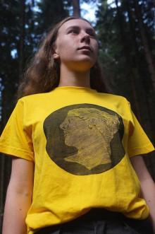 Tričká - Tričko s linorytovou potlačou - Vissum (Pánske S - Šedá) - 11339506_