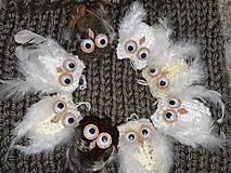 Dekorácie - Sovičky vianočné ozdoby - 11341283_
