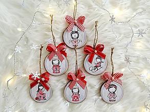 Dekorácie - Vianočné ozdoby červené - sada - 11340707_