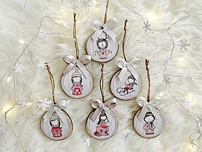 Dekorácie - Vianočné ozdoby strieborné - sada - 11340768_