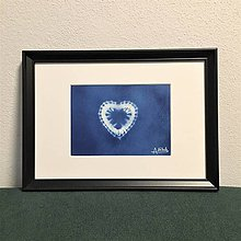 Obrazy - Netradičný obraz BLUE HEART 02 - 11342109_