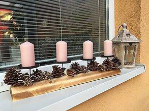 Dekorácie - Advent prírodno ružovy - 11341690_