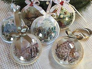 Dekorácie - Vianočná dekorácia - plochá guľa - 11339443_