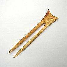 Ozdoby do vlasov - Drevená ihlica do vlasov - jaseňová - 11338904_