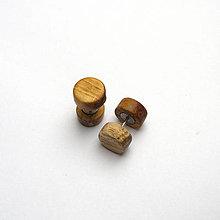 Náušnice - Drevené falošné rozťahováky - agátové - 11339951_
