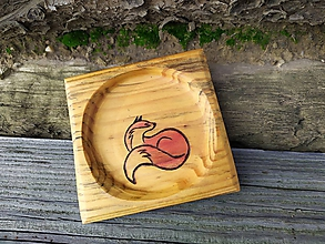 Nádoby - Mini tanierik Líškavý - 11340417_