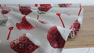 Úžitkový textil - Okrúhly obrus  (Štrikované vianočné  hrnčeky) - 11343388_