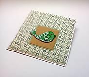 Papiernictvo - Pohľadnica ... vianočná rybka - 11345105_