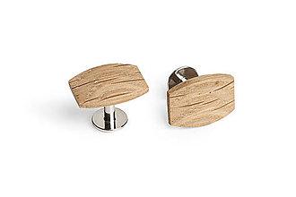 Šperky - Drevené manžetové gombíky Oak Cuff - 11344255_