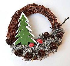 Dekorácie - Vianočný venček-lesný - 11344608_