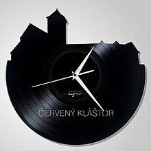 Hodiny - Kostol Červený Kláštor - vinylové hodiny (vinyl clocks) - 11343211_