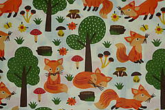 Textil - Látka Líštička kmotrička - 11343093_