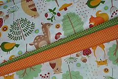 Textil - Látka Lesné zvieratká  - 11343105_