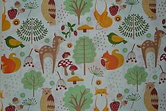 Textil - Látka Lesné zvieratká  - 11343108_