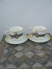 Nádoby - Šálka na kávu ozdobená achátom IV - 11345413_