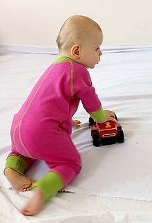 Detské oblečenie - Rastúci overal - merino vlna - 0 - 6 mesiacov (50 - 68 cm) - 11343102_