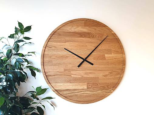 Marc Round Clock 60 cm - Dubové hodiny
