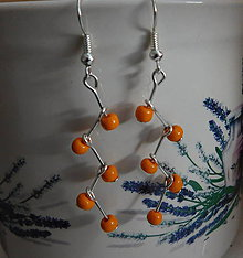 Náušnice - náušničky vetvičky / 5 farieb (Oranžová) - 11344554_