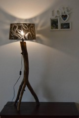 "Svietidlá a sviečky - Drevená stojaca lampa ""Borovica"" - 11346342_"