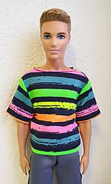 Hračky - Farebné tričko pre Kena - 11345679_