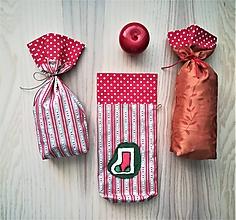 Iné tašky - Darčekové vrecúško - Mikulášske (Ponožka) - 11345492_