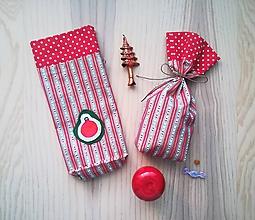 Iné tašky - Darčekové vrecúško - Mikulášske (Vianočná guľa) - 11345521_