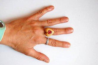 Prstene - Drevený prsteň 9 - 11345746_