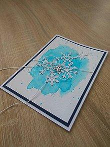 """Papiernictvo - Vianočná pohľadnica """"Vločky I"""" - 11343531_"""