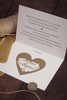 """Papiernictvo - Otváracia stieracia pozvánka pre svedkyňu """"Zlatá"""" ❤ - 11343914_"""