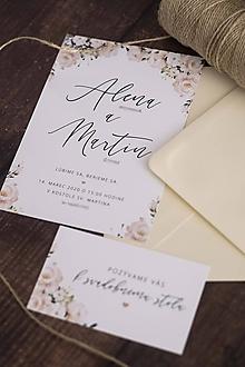 """Papiernictvo - Svadobné oznámenie """"kytica kvetov"""" ❤ - 11344024_"""