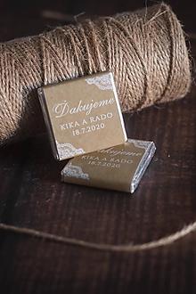 """Darčeky pre svadobčanov - Čokoládka """"Vintage"""" - 11344044_"""
