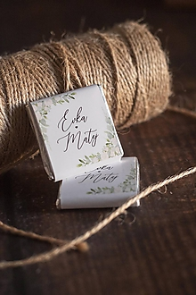 """Darčeky pre svadobčanov - Čokoládka - """"bielo-zelený kvietky"""" - 11344051_"""
