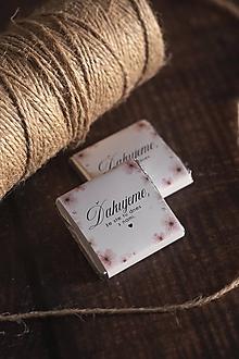 """Darčeky pre svadobčanov - Čokoládka - """"jemne ružové kvietky"""" - 11344058_"""