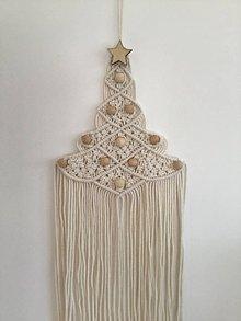 Dekorácie - Makramé vianočný stromček - 11343584_