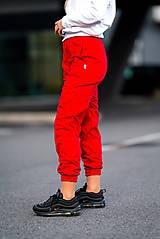 Nohavice - Tepláky červené - 11342930_