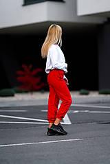 Nohavice - Tepláky červené - 11342933_