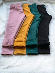 Detské oblečenie - Zateplené legíny od 74 - 122 - 11345147_
